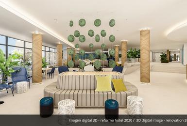 интерьер- Отреставрированный в 2020 Отель AluaSoul Palma (Только для взрослых) Cala Estancia, Mallorca