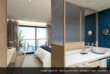 Комната- Отреставрированный в 2020 Отель AluaSoul Palma (Только для взрослых) Cala Estancia, Mallorca