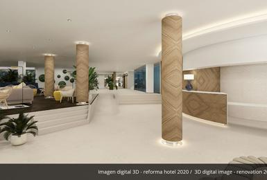 Лобби- Отреставрированный в 2020 Отель AluaSoul Palma (Только для взрослых) Cala Estancia, Mallorca