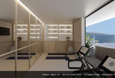 Гимнастический зал- Отреставрированный в 2020 Отель AluaSoul Palma (Только для взрослых) Cala Estancia, Mallorca