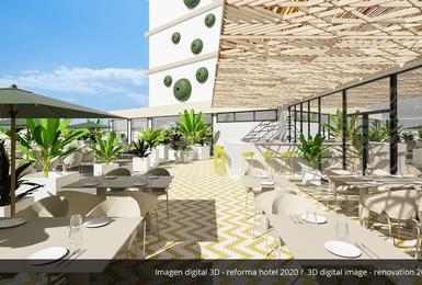терраса- Отреставрированный в 2020 Отель AluaSoul Palma (Только для взрослых) Cala Estancia, Mallorca