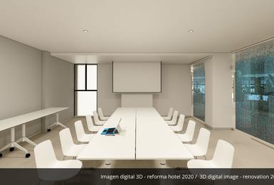 Комната для переговоров- Отреставрированный в 2020 Отель AluaSoul Palma (Только для взрослых) Cala Estancia, Mallorca