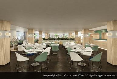 Ресторан-буфет- Отреставрированный в 2020 Отель AluaSoul Palma (Только для взрослых) Cala Estancia, Mallorca